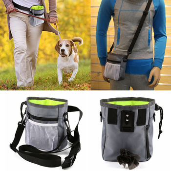 New Pet Dog Training Bag Portable Treat Snack Bait Dogs Obedience Agility Outdoor Feed Storage Pouch Food Reward Waist Bags portable dog treat pouch pet training bag outdoor pet feed pocket pouch dogs snack reward waist bag pets aids training supplies