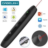 Wireless Presenter Pen USB  2.4GHz Remote Control Power point Presenter Presentation Clicker PPT Pointer Laser Pointer Pen