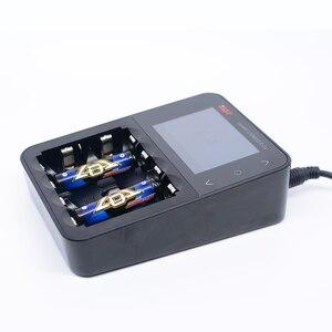 Image 3 - Original ISDT C4 8Aสมาร์ทแบตเตอรี่Chargerหน้าจอเอาต์พุตUSBสำหรับ 18650 26650 AA AAAแบตเตอรี่โหมดRC