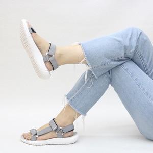 Image 4 - GRITION Women Sandals Fashion Summer Lightweight Beach Ladies Flat Platform Casual Walking Shoes Comfortable Blue Gray Green New