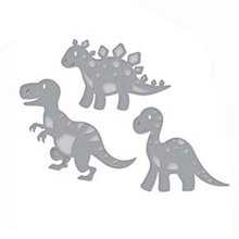 3Pcs Dinosaurs Metal Cutting Dies for Scrapbooking