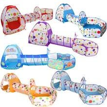 3 w 1 dzieci kryty odkryty indeksowania składany zabawkowy domek Polka Dot tunel strzelanie Marine basen z piłeczkami zabawki dla dzieci namiot prezenty