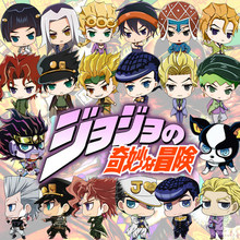 Anime Keychain Jojo's Bizarre Adventure Star Platinum Q Version Cosplay Acrylic Keyring Pendant Charms Hanging Ornament(China)