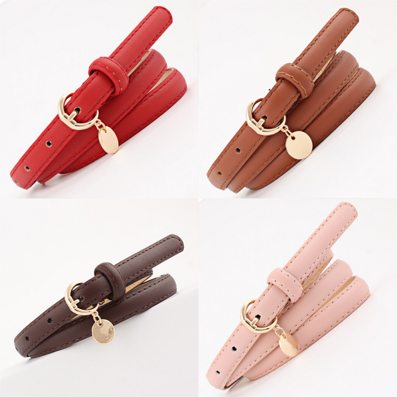 Casual Belts For Women Imitation Leather PU Vintage Thin Women Ceinture Femme Waistband