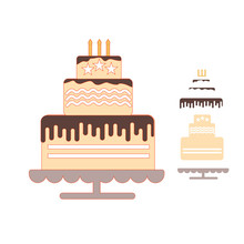 Naifumodo Cake Dies Metal Cutting New 2019 for Card Making Scrapbooking Craft Embossing Cuts Stencil