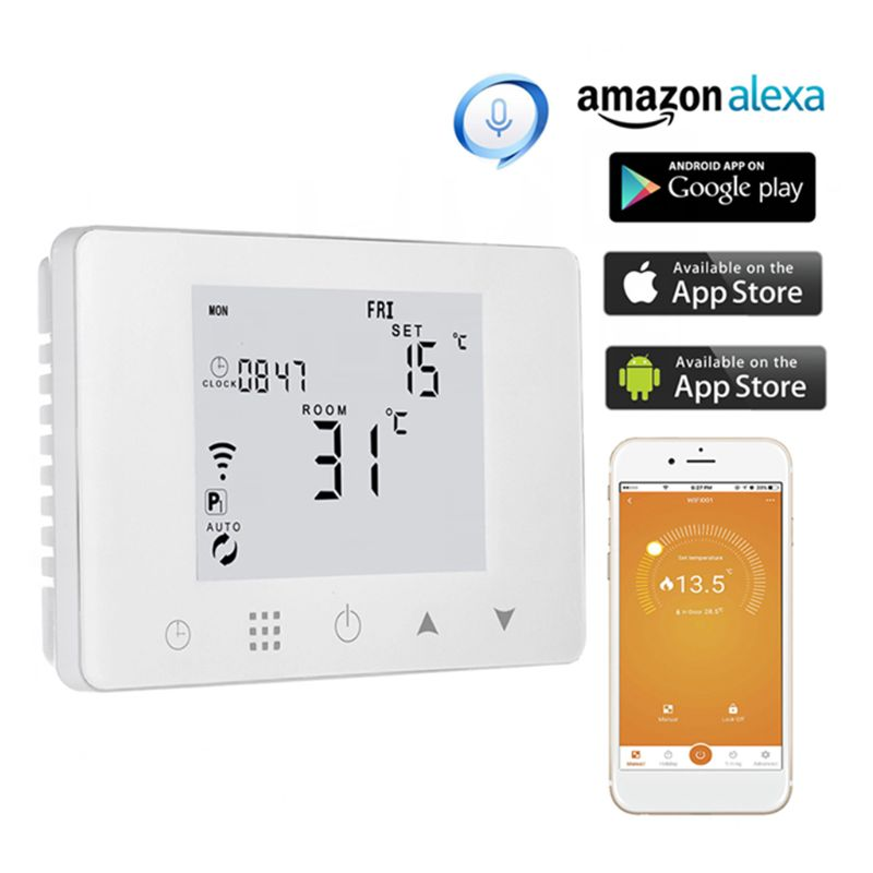 WiFi Room Thermostat Gas Boiler Wall-mounted Heating Wireless Remote Temperature Controller For Alexa Google Home 110V 220V