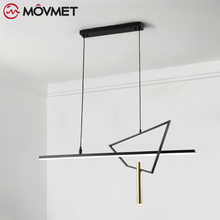 Modern Pendant Lights For Living Room Dining Room Circle Rings Acrylic Aluminum Body LED Ceiling Lamp Fixtures