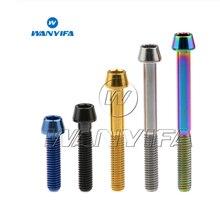 Wanyifa M5x15 16 18 20 мм Титан/Ti болты для выноса руля для конической головки MTB велосипедные винты фиксированные болты велосипедные части