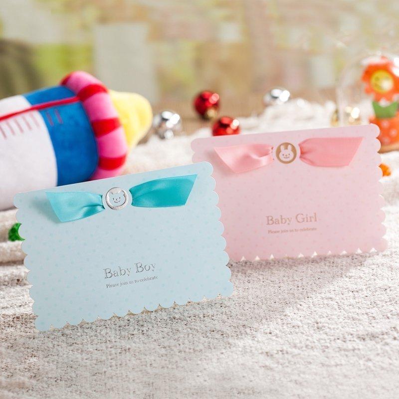 Wishmade 1 шт. Синий Розовый 3D детский душ Пригласительные открытки с милой детской машиной поздравительные открытки для детей вечерние товары ...