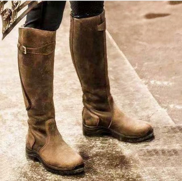 Women's Leather Horse Riding Boots 5