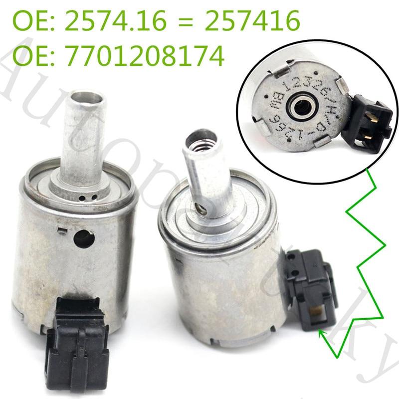 2PCS Part #  7701208174 0000257416 257416 2574.16 EPC Solenoid Renault Gearbox For Fiat Citroen Peugeot AL4/DP0 - Remanufactured