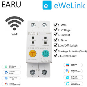 2P WIFI Circuit Breaker Energy Power kWh Meter Time Timer Switch Relay Voltmeter Current Leakage Protection RCCB RCBO Limitter(China)