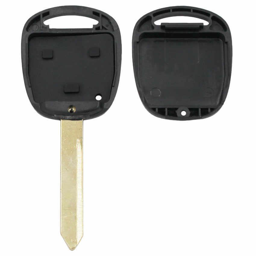 מכירה! 10 PCS, 2 לחצנים מרחוק מפתח Shell עבור טויוטה יאריס HIACE קורולה AVENSIS קאמרי מפתח מקרה Fob להב TOY47 עם גומי