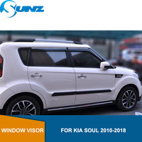 Car window rain protector For KIA SOUL 2010 2011 2012 2013 2014 2015 2016 2017 2018 Sun Rain Deflector Guard SUNZ|Chromium Styling| |  -