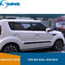 Car window rain protector For KIA SOUL 2010 2011 2012 2013 2014 2015 2016 2017 2018 Sun Rain Deflector Guard SUNZ
