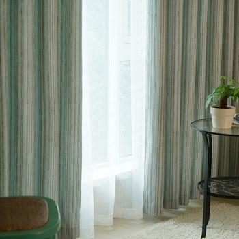 Жаккардовые затемняющие шторы в синюю полоску для гостиной спальни занавески для окон украшения двери