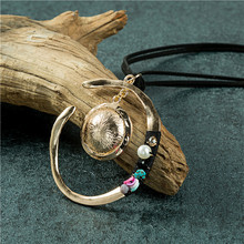 Vintage Alloy Woman  Necklace Wholesale Bohemian Fashion Jewelry Pendant Handmade Long for Women