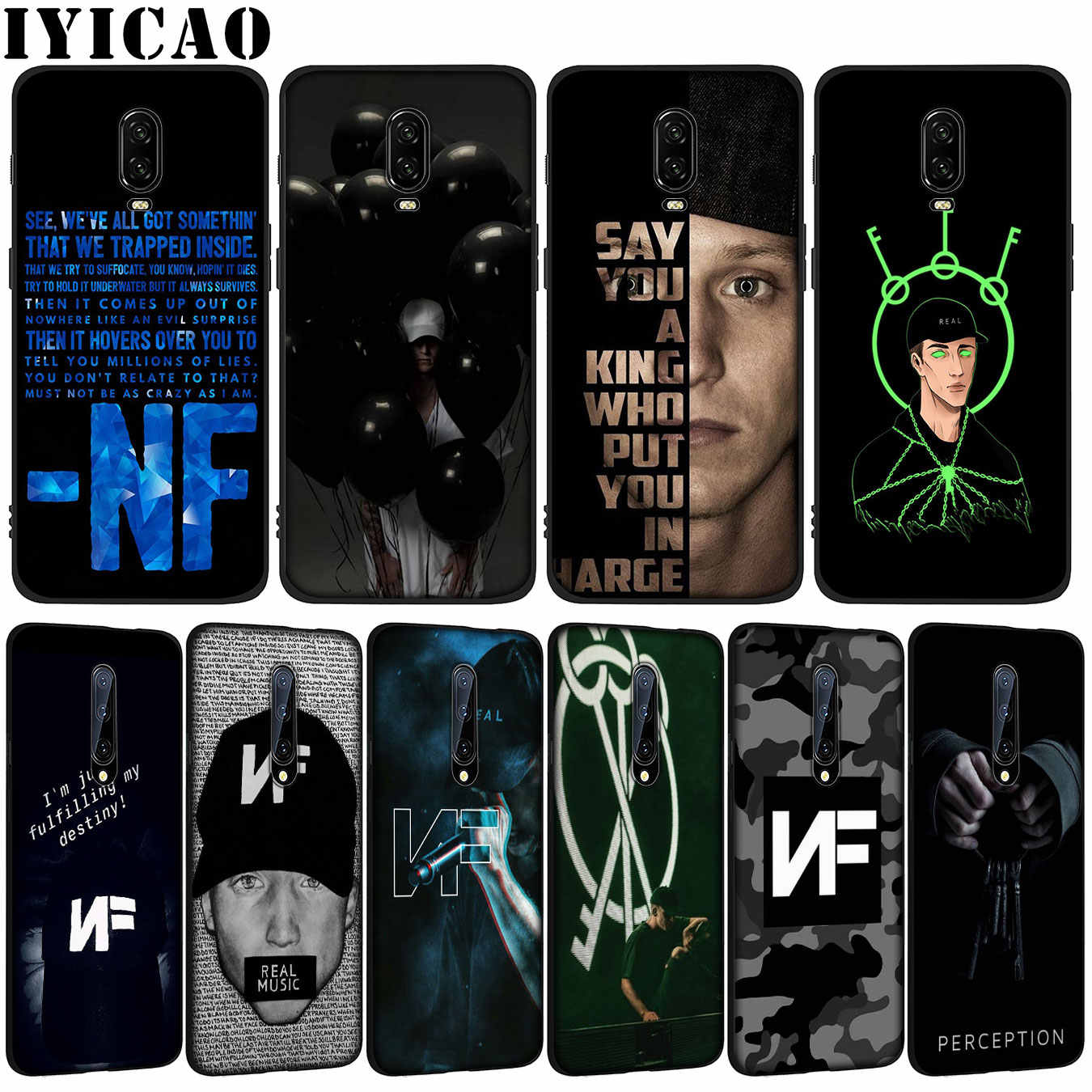 Nf Real suave TPU negro silicona teléfono caso para OnePlus 7T 7 Pro 6 6T 5 5T One Plus 7Pro cubierta