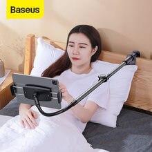 Baseus-Soporte de teléfono de brazo largo ajustable, Clip plegable para escritorio y tableta, para iPhone y Samsung
