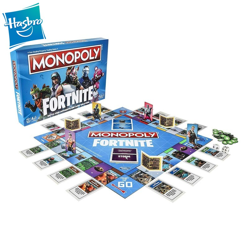 Hasbro Game Monopoly Fortnite Genuine Board Games Family Party Parenting Interactive Games Adult Multiplayer Game Toys