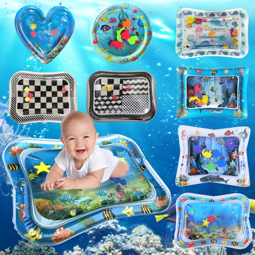 Infant Play Mat | Baby Water Mat Inflatable Patted Pad Cushion Infant Play Mat Toddler Funny Pat Pad Toys For Baby Fun Activity Play Center
