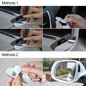 Image 5 - 2Pcs Car Blind Spot Mirror 360 Degree Adjustable Wide Angle Convex Rear View Mirror Car Parking Rearview Mirror round long