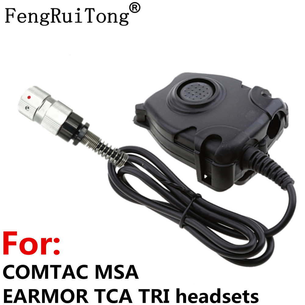 6-PIN Tactics PELTOR PTT For COMTAC MSA EARMOR TCA TRI NATO Plug Headset ,for PRC-148 PRC-152 Tactical 6-PIN Walkie Talkie