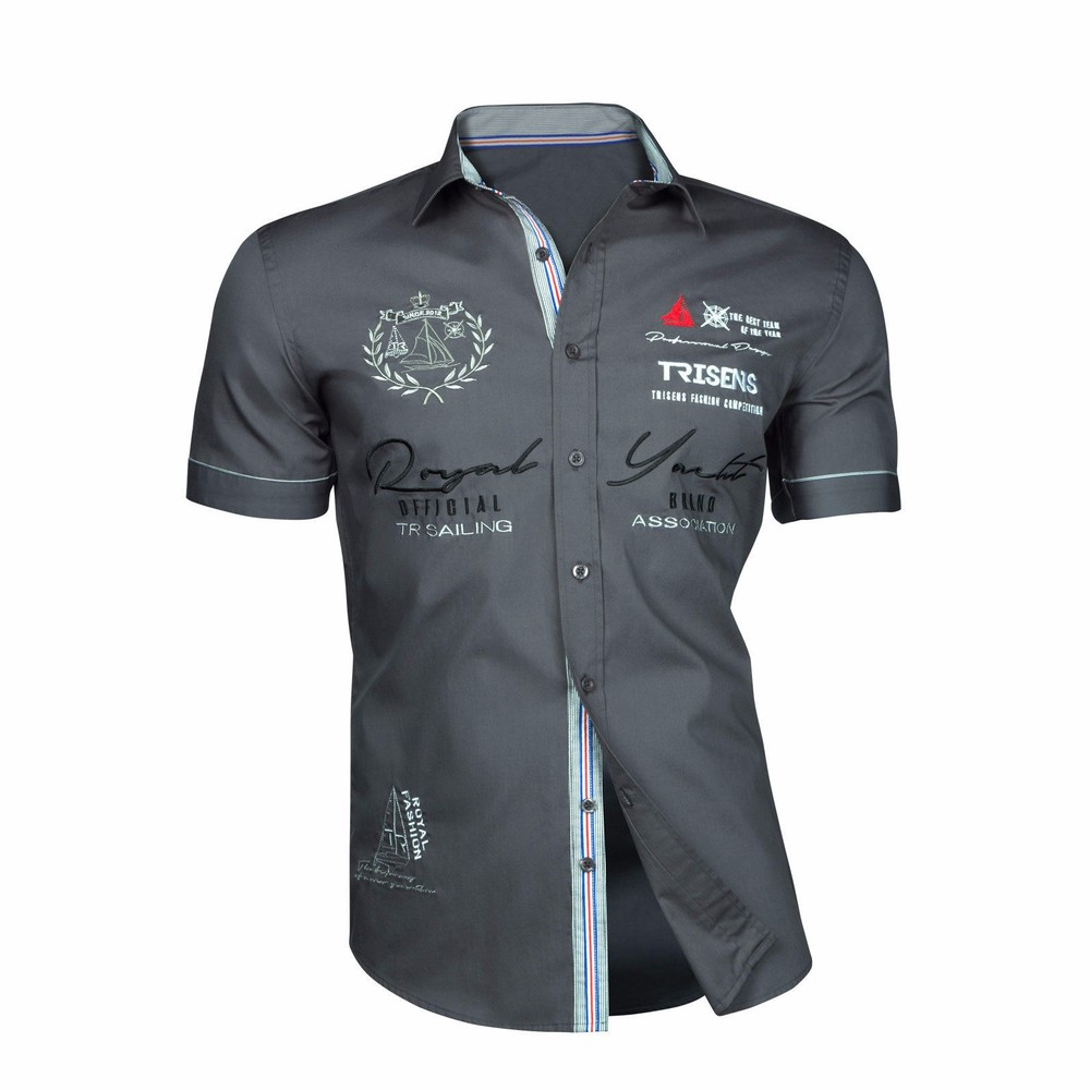 Zogaa 2020 Summer Men Casual Shirts Slim Fit Men's Casual Button Down Shirt Short Sleeve Formal Dress Shirts Men Male Clothing 4