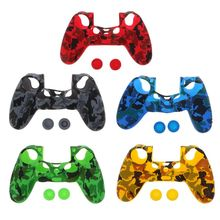 Protective Cover Silicone Case Skin Joystick Thumb Stick Grips Anti-Slip Cap Dustproof Game Accessories for Sony PlayStation PS4 цены