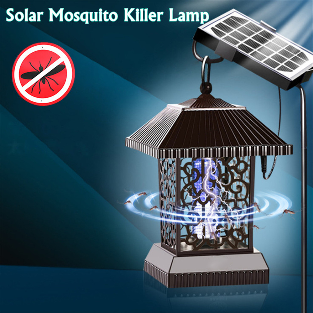 nova 16led solar mosquito assassino lampada ao ar livre indoor luz uv armadilha a prova dwaterproof