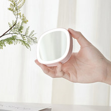 Mini Luminous LED Makeup Mirror Stand Multifunction Portable Fill Light HD Vanity Foldable Outdoor
