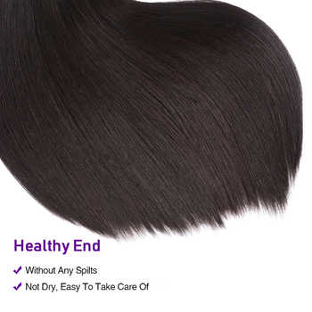 "UNice Hair Kysiss Series 3 Bundles With Closure 8-30\"" Straight Hair Extension Brazilian Virgin Hair Weaves Bundles With Closure"