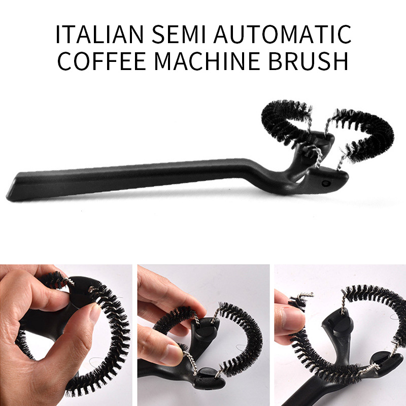 Coffee Machine Brewing Head Clean Brush Espresso Silicone Coffee Machine Brushes Cafe Grinder Cleaner Cleaner Tools Accessories