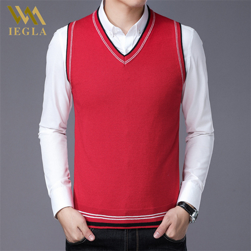 Sweater For Men Pullovers Plaid Sweaters Vests Slim Fit Jumpers Knitred Vest Autumn Winter Casual Man Clothes Pull Homme