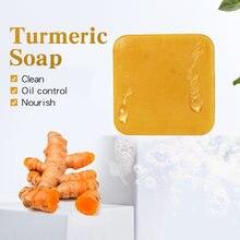 Creme de ervas sabão natural esfoliante limpeza nutritivo óleo-controle clareamento acne tratamento ácaro remoção rosto sabão cuidados com a pele