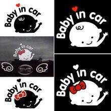 Hot Baby in Car Car Sticker Funny Window Vinyl Decals for Car Decoration Styling Self Adhesive Stickers for Car Glue Sticker PVC carcardo 40cm x 200cm car headlight taillight tint vinyl film sticker car smoke fog light viny stickers decals car styling