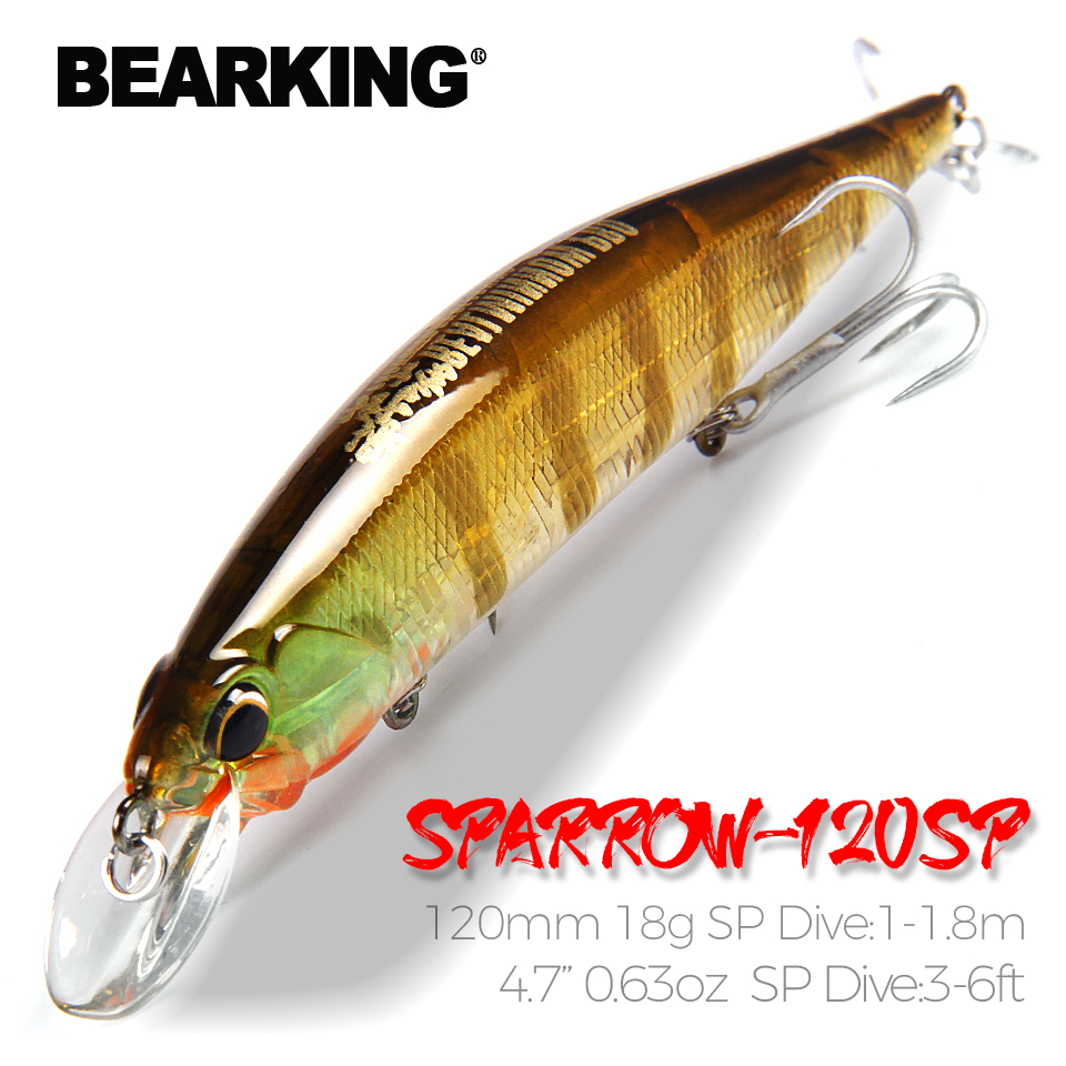 Bearking 120mm 18g   hot model fishing lures hard bait different colors for choose minnow,quality professional minnow|hard bait|lure hardfishing lure - AliExpress