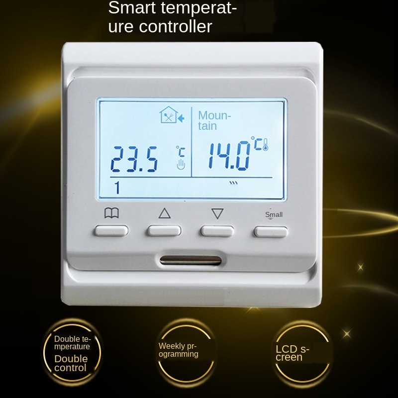 Floor Heating Controller Air Thermostat 1 Pc 220V Heating/room Intelligent Temperature Control Regulator LCD Programmable