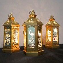 Nuevas decoraciones Ramadán, luz LED, linterna para eventos para el hogar, suministros de fiesta islámica musulmana, linterna colgante decorativa Eid Al Adha