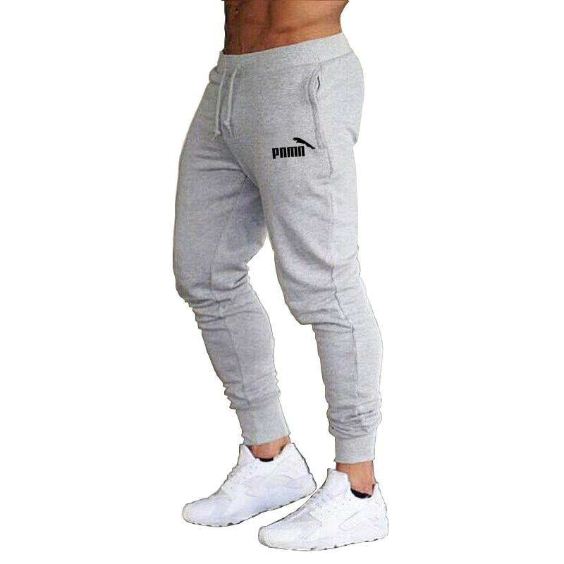 New 2020 Casual Joggers Pants Solid Color print Men Cotton Elastic Long Trousers Pantalon Homme Running Training Sweatpants