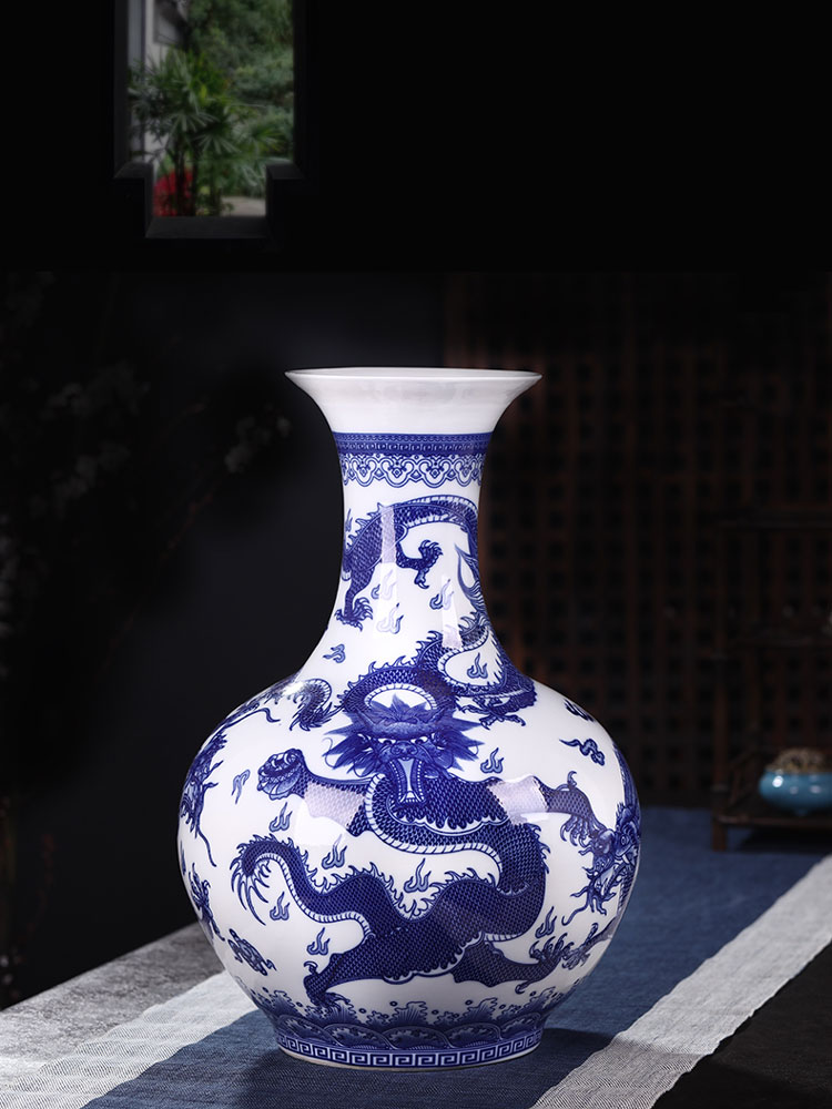 Blue And White China Vase Decortions