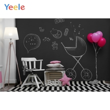 Room Baby Toys Teddy Bear Balloon Birthday Carpet Blackboard Interior Photo Backgrounds Photo Backdrops Photocall Photo Studio