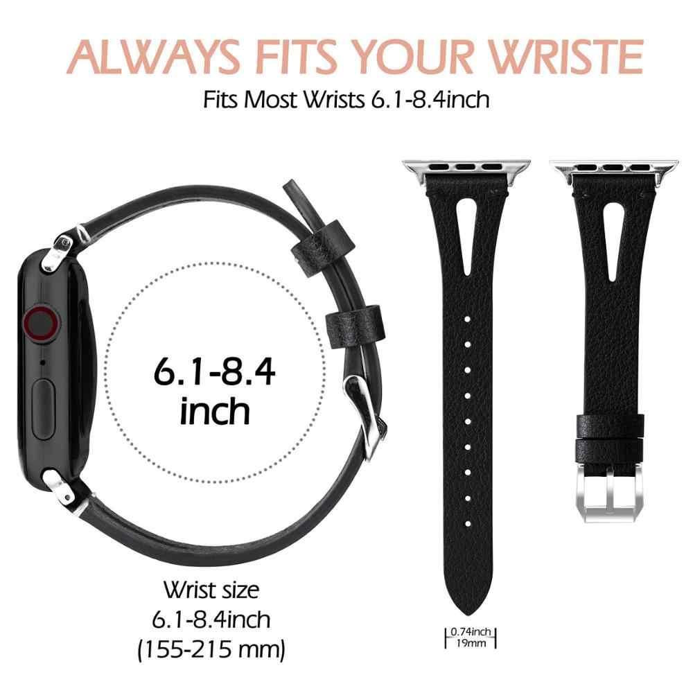 נשים רצועת עבור אפל שעון 5 להקת 44mm iwatch סדרת 4 3 2 1 חכם אביזרי 42mm לולאה 38mm צמיד החלפת 40mm