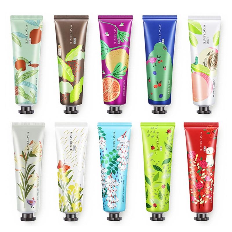 1Pc Fruit hand cream natural plant extract anti dryness hand care whitening skin Hydrating Smooth moisturizing hand cream HF179
