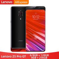 ROM globale Lenovo Z5 Pro GT Snapdragon 855 Smartphone 8 go RAM 128 go 256 go ROM 6.39 ''empreinte digitale à l'écran 24MP
