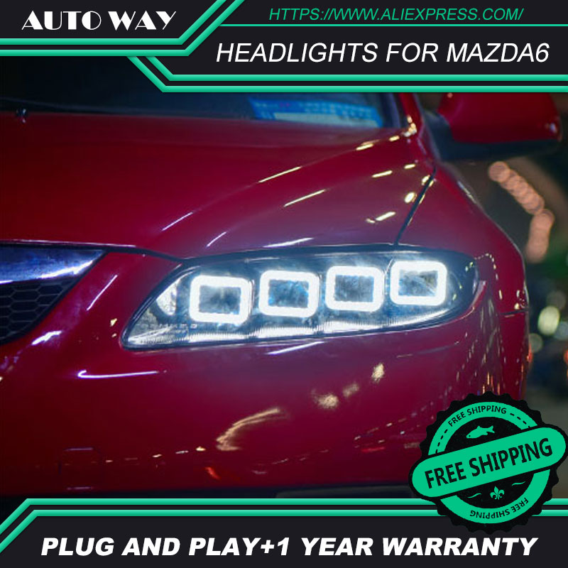 Car Styling Head Lamp case for Mazda6 2003-2015 <font><b>Headlights</b></font> 2011-2015 <font><b>Mazda</b></font> <font><b>6</b></font> M6 LED <font><b>Headlight</b></font> H7 D2H LED Bi <font><b>Xenon</b></font> Beam image