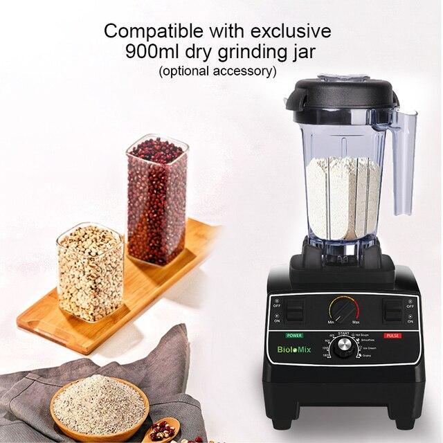 BPA Free 2L Jar 2200W Professional Smart Timer Pre-programed Blender Mixer Juicer Food Processor Ice Smoothies Crusher 5