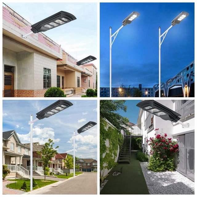 AUGIENB 120W/240W/360W LED Solar Lamp Wall Street Light Super Bright Radar PIR Motion Sensor Security Lamp for Outdoor Garden 2
