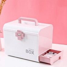 Przenośna apteczka z tworzywa sztucznego wielofunkcyjna szafka na leki rodzina podróży zestaw ratunkowy na leki pojemnik na pigułki