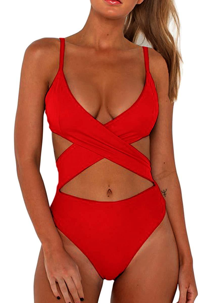 H924b786ce223487184a7f400106868d4W 2019 Push-Up Bikinis Sexy black bandage design Halter bikini swimsuit women Low Waist Women swimwear swimming Brazilian Biquini